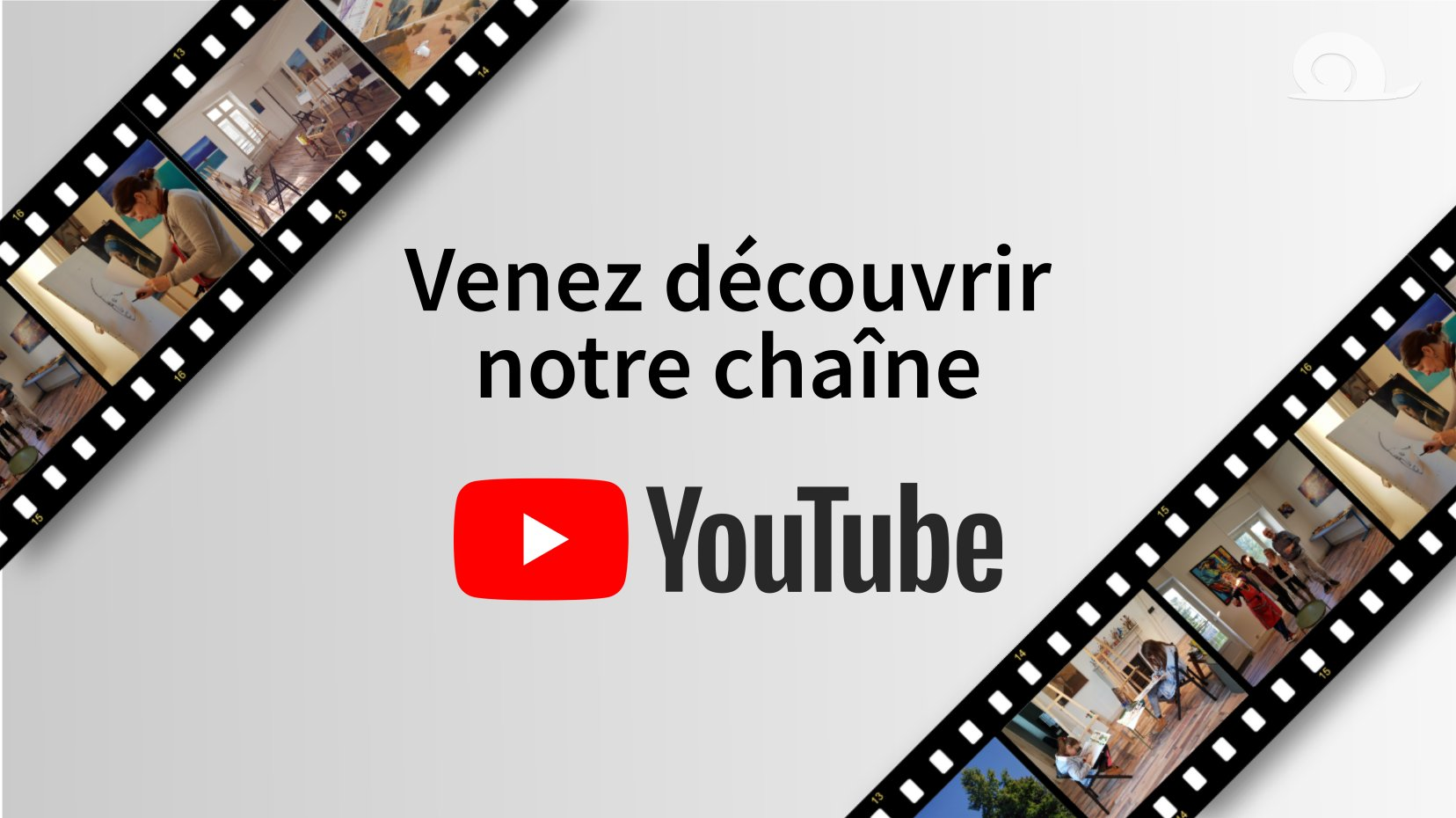 Affiche chaîne youtube atelier slow art